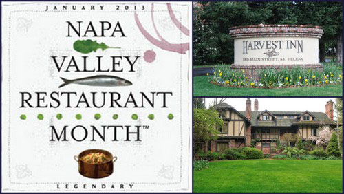 Napa Valley Harvest Inn Napa Valley Restaurant Month, January 2013
