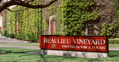 beaulieu vineyard entrance Napa Valley Historic Wineries