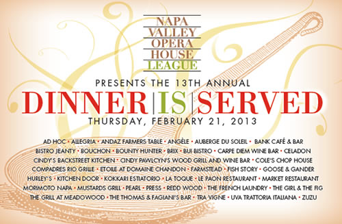 DIS 2013 Image Dinner is Served: Napa Valley Opera House 13th Annual Fundraiser