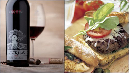 silver oak and cabernet burger Food Pairings for Your Napa Valley Wine