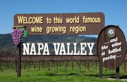 Napa Valley welcome sign Planning a Wine Tour in Napa Valley
