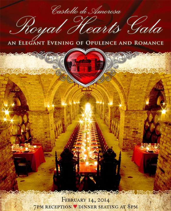 castello di amorosa gala Valentines Day in Napa Valley
