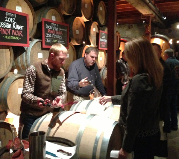 v sattui barrel tasting party 2 January Events in Napa Valley