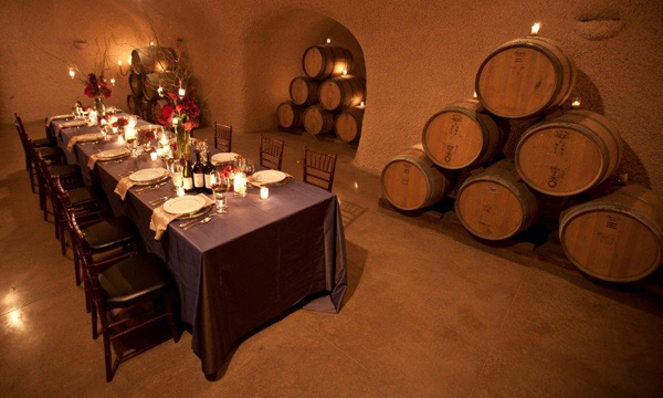Dinner Inside a Cave at Rutherford Hill Winery