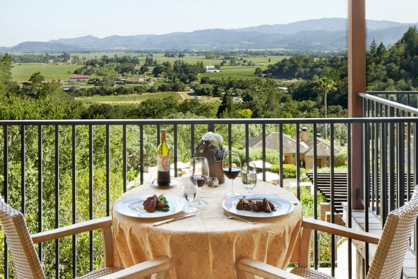 A Table for Two on the Terrace at The Restaurant at Auberge